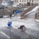 【コント】イギリスの完全凍結してしまった街の様子をご覧ください