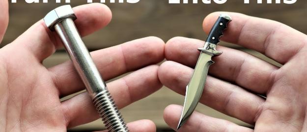 【DIY】ボルトが切れ味鋭いナイフに!? まさかの変貌を遂げたDIYをご覧あれ
