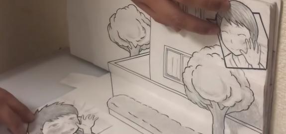 【感動】世界で話題! イラストが動くパラパラ漫画がスゴ過ぎる!