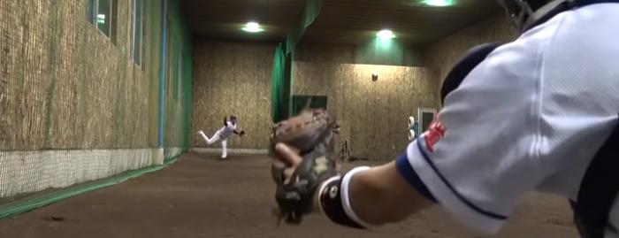 【ブルペン】軟式野球最速のピッチング! 球が走ってるってこういうことか……