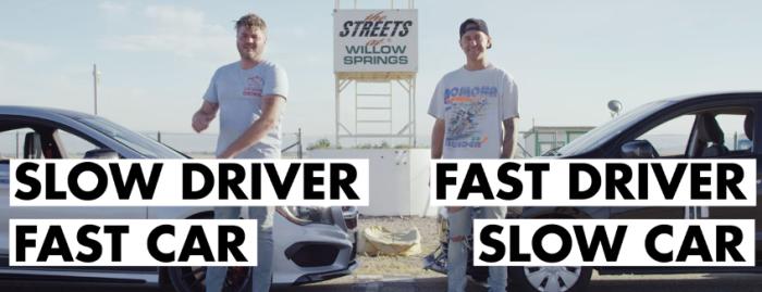 【対決】速い車に乗った「素人ドライバー」VS 遅い車に乗った「玄人ドライバー」