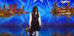 オーディション番組に登場した不気味な「ホラー少女」のマジックが話題に