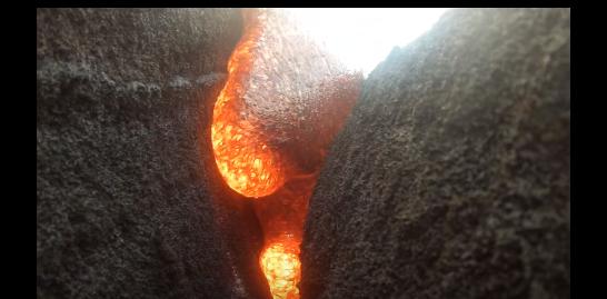 【衝撃映像】溶岩に飲み込まれてみた! 迫ってくる瞬間を激撮