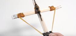 【工作】超簡単! ミニ・クロスボウの作り方
