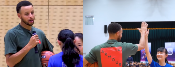世界最高のプレイヤー、NBAの大スターが日本のバスケ少女に伝えたカッコ良過ぎる言葉!